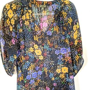 Anthropologie fei 100% silk blouse